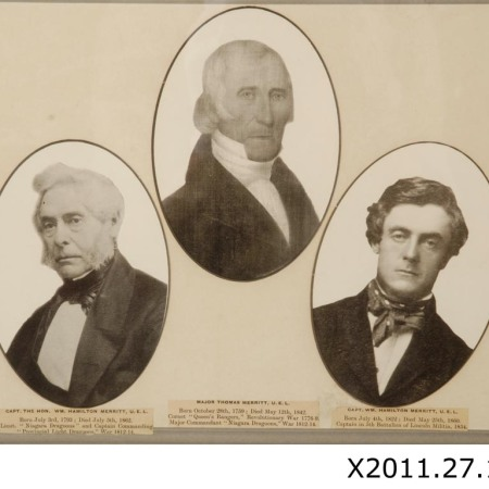 Photo collage of William Hamilton Merritt, Thomas Merritt