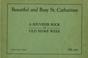 1921 view-book of St. Catharines published for the city's Old Home Week. A copy of the view-book will be available to look through at our aMUSE event this Saturday, July 16th. (St. Catharines Museum, 2012.28.4A).