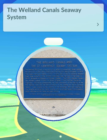 welland canals seaway sign pokestop