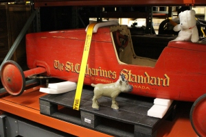 """Snowflake is living the Soapbox Derby dream. Did you know that the Museum's """"Collections B"""" room stands for """"Big Stuff."""" We have over 200 oversize artifacts in our collection."""