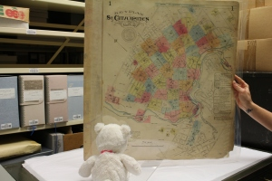 Snowflake loved looking at the old city maps! Snowflake couldn't find the St. Catharines Museum on this 1929 Fire Insurance Map though.