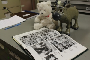 Snowflake and Sven may or may not be sneaking a peek at a particular Collections Technician's high school year book…