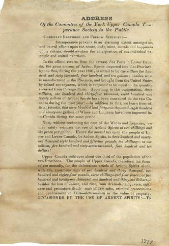 Temperance address 1831 - 2