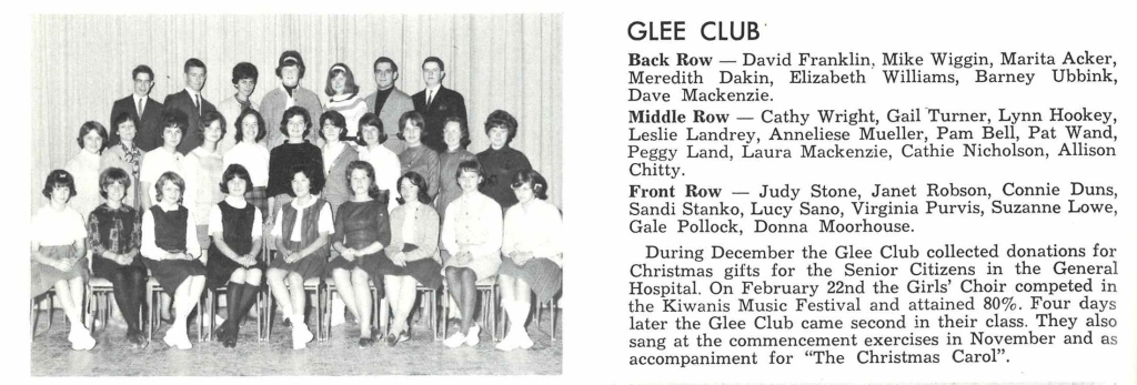 Sir Winston Churchill High School Glee Club, 1963/1964.